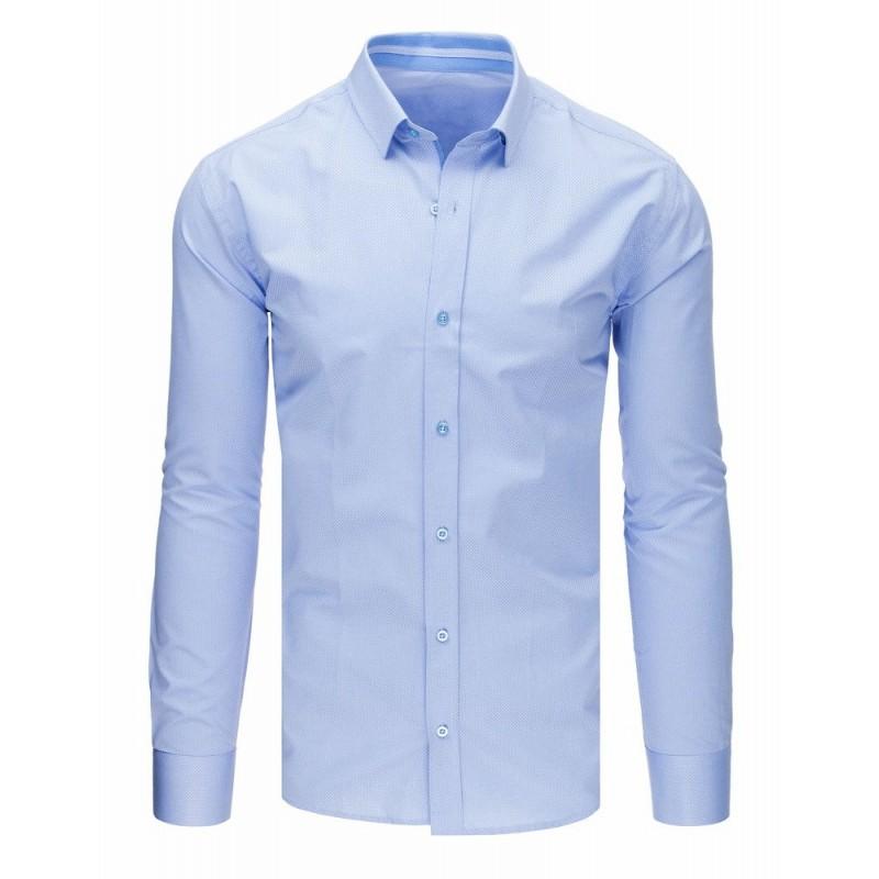 6fec74db3031 Pánska košeľa slim fit s dlhým rukávom v modrej farbe