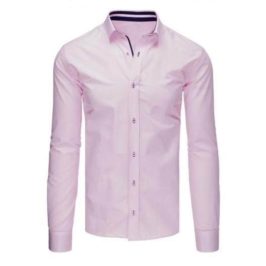 Ružová košeľa pánska s dlhým rukávom