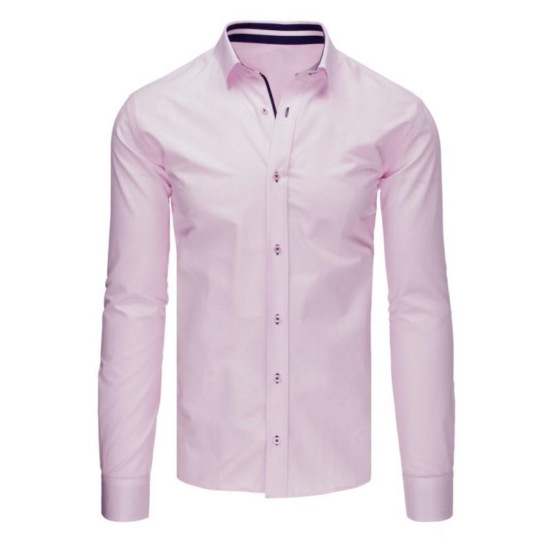 0892d3e7a731 Ružová košeľa pánska s dlhým rukávom