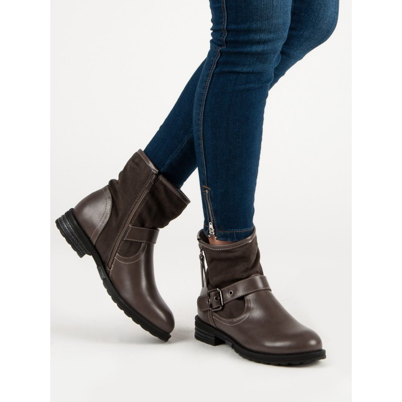 1d52ff5760 Dámske kotníkové topánky na jar v hnedej farbe s prackou