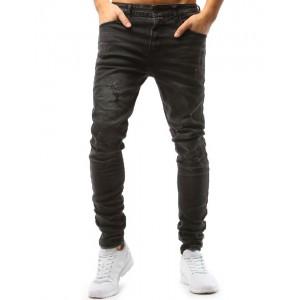 Rifľové nohavice pánske tmavo sivej farby
