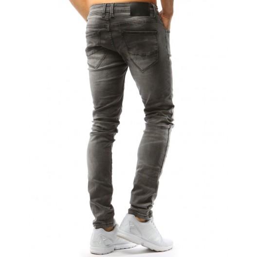 Svetlo sivé pánske jeansy slim fit