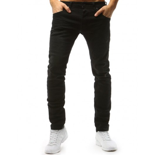Moderné pánske rifľové nohavice v čiernej farbe