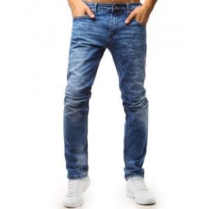 Klasické pánske rifľové nohavice modrej farby