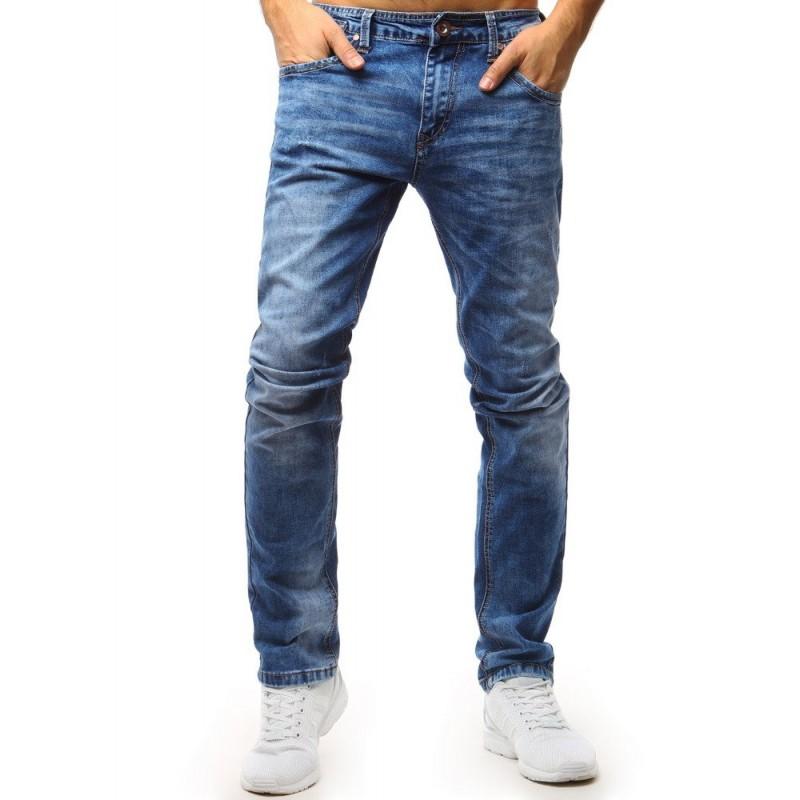 a326d937a Klasické pánske rifľové nohavice modrej farby