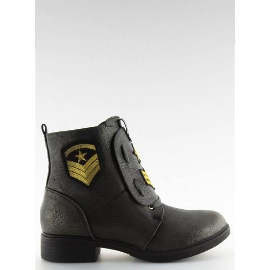 Dámske zimné zateplené topánky v sivej farbe