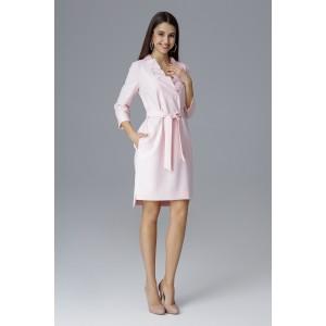Spoločenské šaty krátke ružovej farby s opaskom