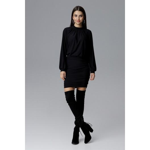 Luxusné spoločenské šaty čiernej farby