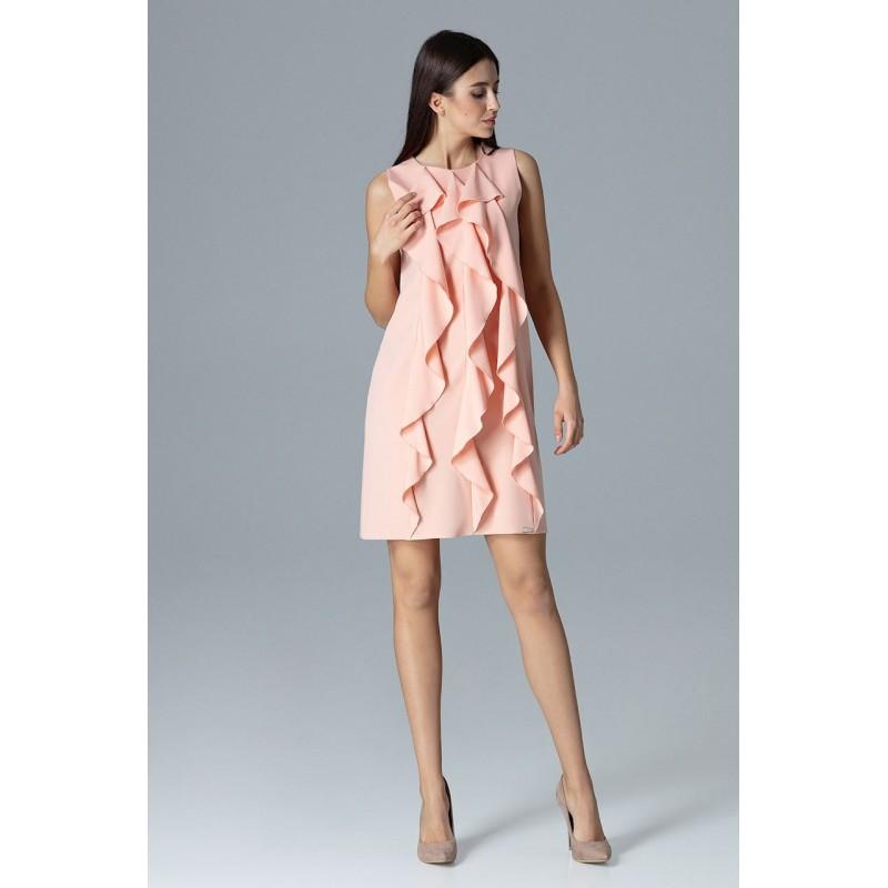 e77a30c753f32 Krátke dámske spoločenské šaty ružovej farby