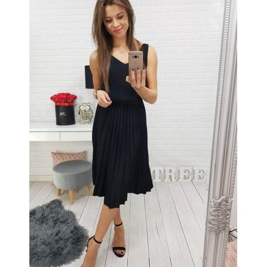 Dlhá elegantná dámska sukňa čiernej farby