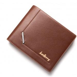 Pánska peňaženka z ekokože v hnedej farbe