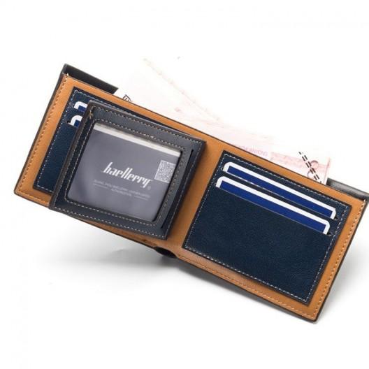 Čierna pánska peňaženka s detailom a prešitím