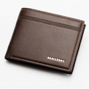 Peňaženka pre mužov v hnedej farbe s jemným detailom