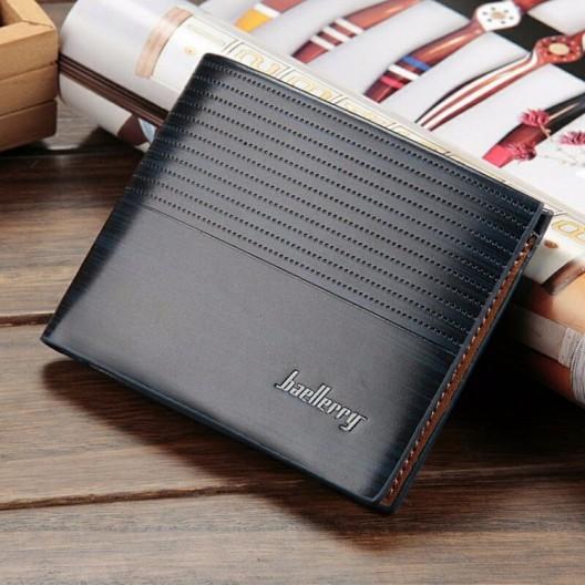Pánska tmavomodrá peňaženka z ekokože