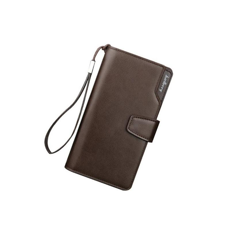 43b88c455 Dlhá pánska peňaženka v hnedej farbe z ekokože