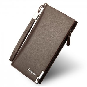 Štýlová hnedá pánska peňaženka so zapínaním na zips