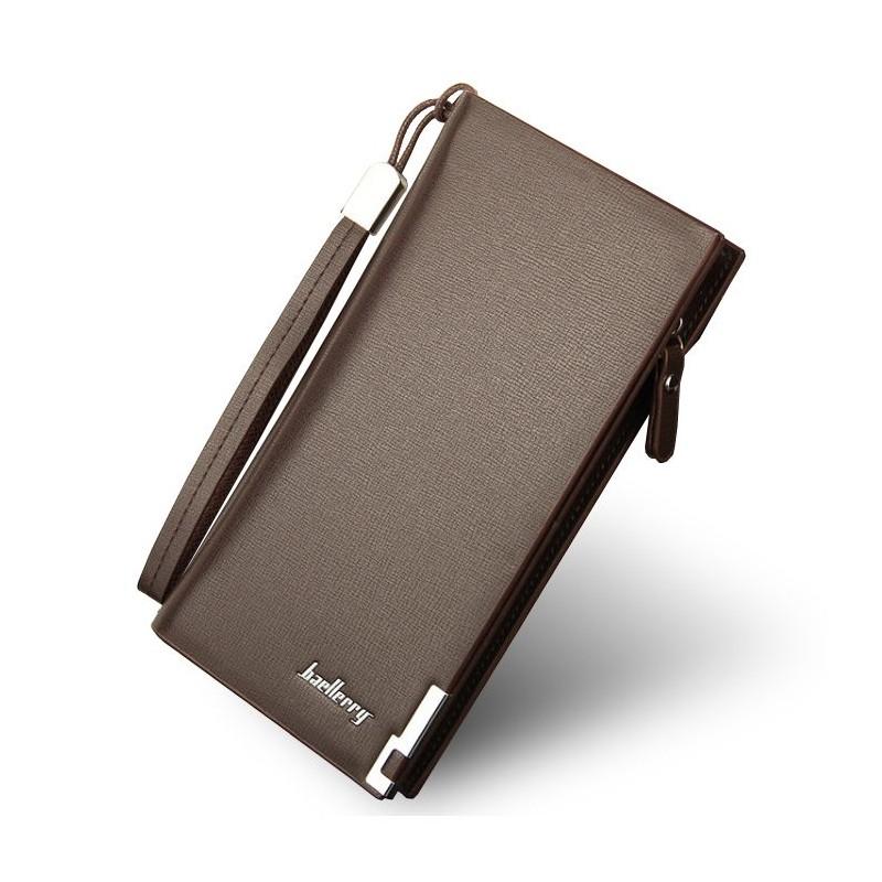 c6d66c3a13de Štýlová hnedá pánska peňaženka so zapínaním na zips