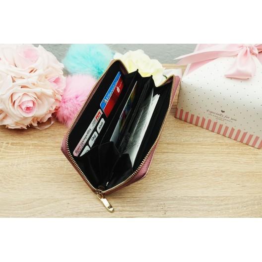 Čierná dámska peňaženka so zipsom z ekokože
