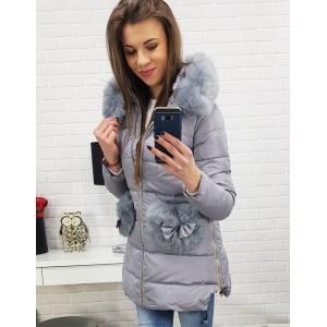Elegantná dámska bunda na zimu s kožušinou