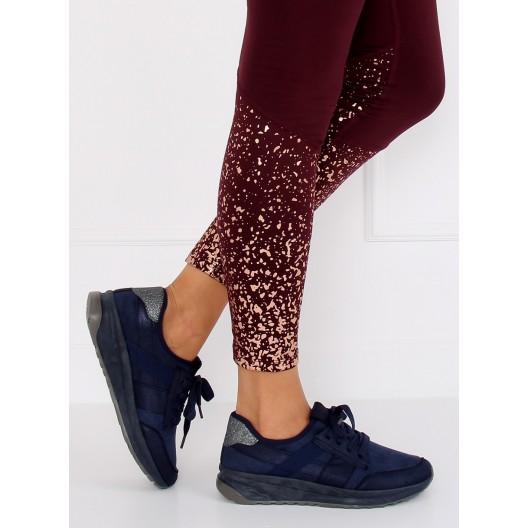 Letné dámske topánky v modrej farbe na vysokej podrážke