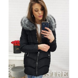 Elegantná dámska zimná bunda s kapucňou a kožušinou