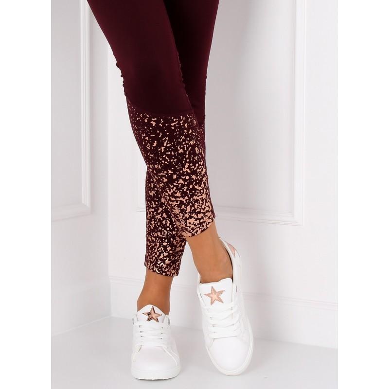 6daffeb2d2 Dámske letné topánky v bielej farbe s motívom hviezdy