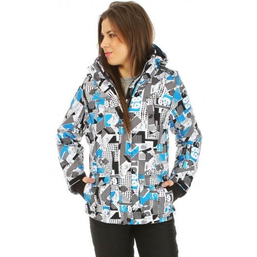Zimná lyžiarská dámska bunda s farebným vzorom