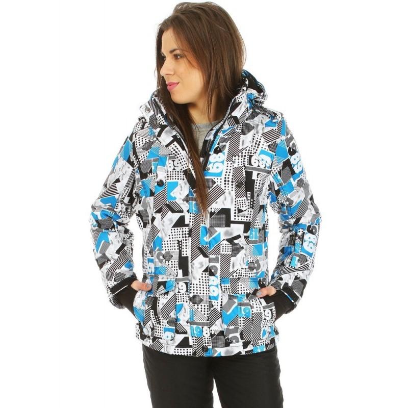 8df06179f5f8 Zimná lyžiarská dámska bunda s farebným vzorom