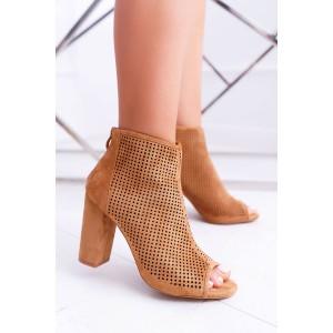 Dámske dierkované topánky s otvorenou špičkou