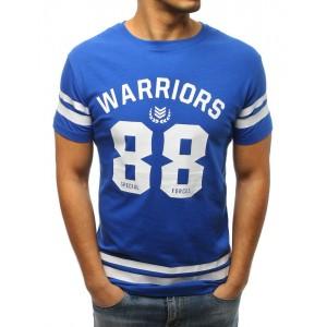 Elegantné pánske tričko v modrej farbe