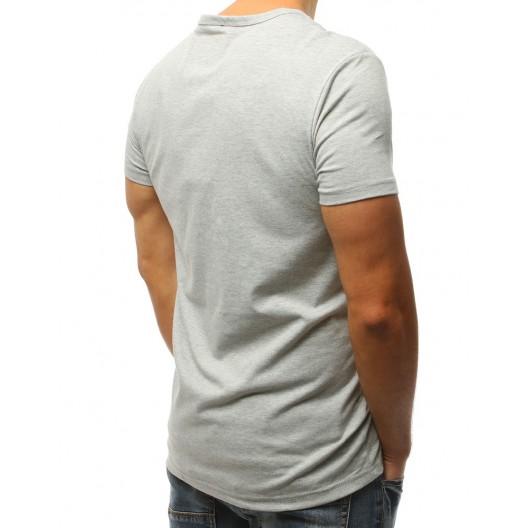 Tričko s podtlačou n sivej farbe