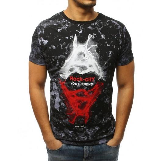 Pánske tričko s nápisom v čiernej farbe