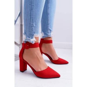 Elegantne dámske lodičky v červenej farbe