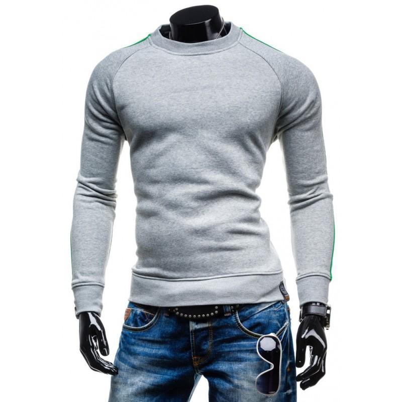 Moderné pánske mikiny bez kapucne sivej farby - fashionday.eu 36af3f2e12f