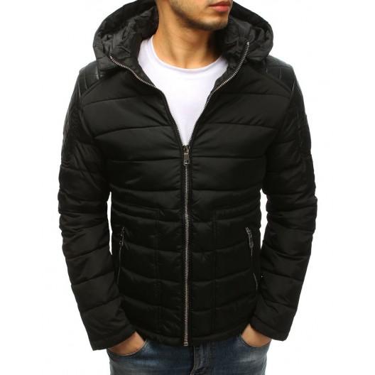 Pánska prešívaná zimná bunda s vreckami na zips