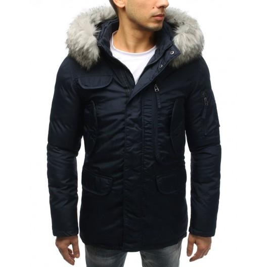 Kvalitná zimná vetrovka čiernej farby pre mužov