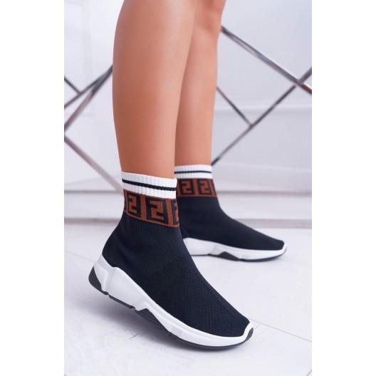 Dámske extravagantné tenisky v štýle ponožiek