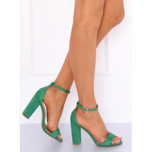 d4e1a0a94 Zelené sandále pre ženy s motívom kvetov - fashionday.eu