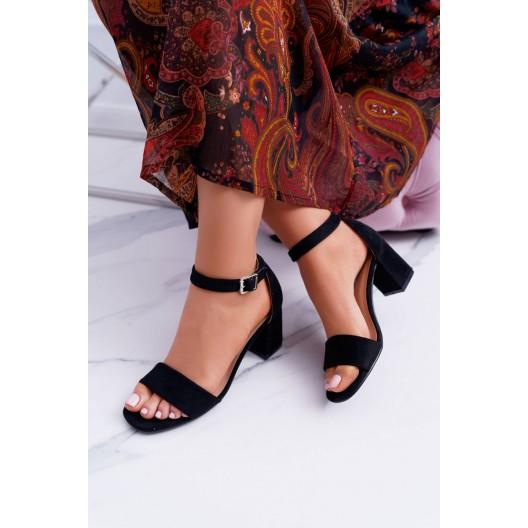 Letné dámske sandále čierne s uzavretou pätou