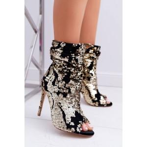 Elegantné dámske členkové topánky na vysokom opätku