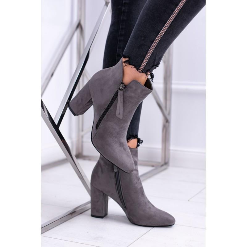 Dámske mierne zateplené členkové topánky na zips 4d964e804ad