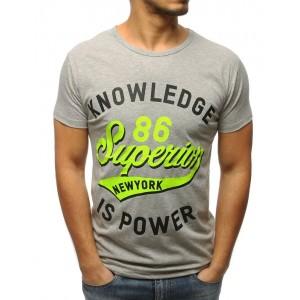 Moderné pánske tričko s okrúhlym výstrihom