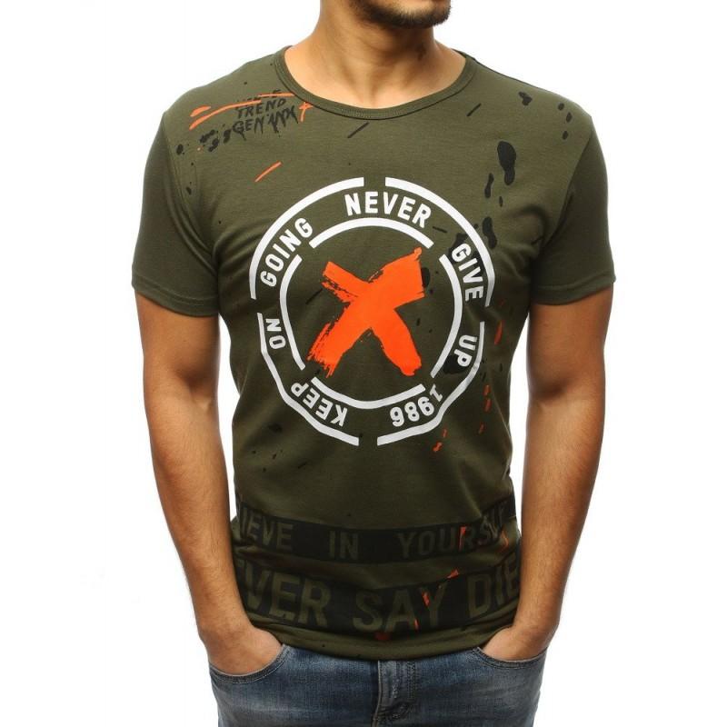 fc3814656136 Štýlové pánske tričko zelenej farby