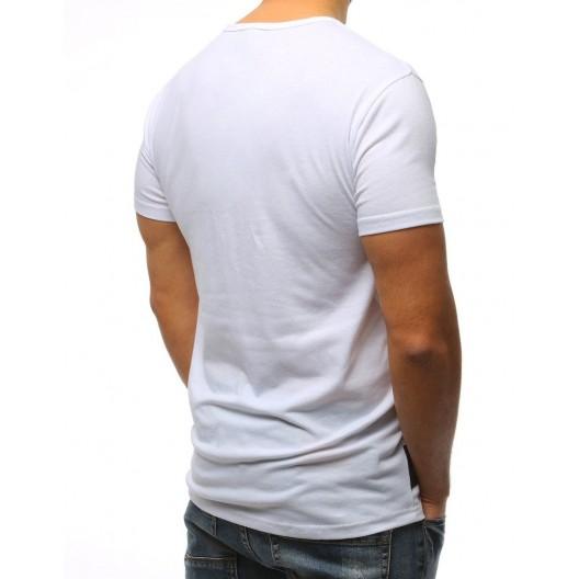 Tričko s krátkym rukávom bielej farby s okrúhlym výstrihom