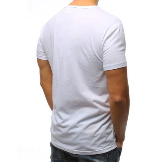 Potlačené biele tričko na leto pre pánov