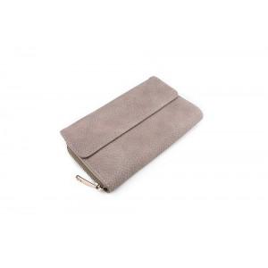 Veľká dámska peňaženka béžovej farby