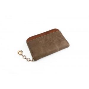 Svetlo hnedá peňaženka dámska s ozdobným príveskom na zipse