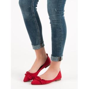 Červené balerínky pre dámy