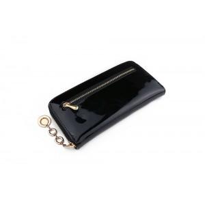 Lesklá dámska peňaženka čierna