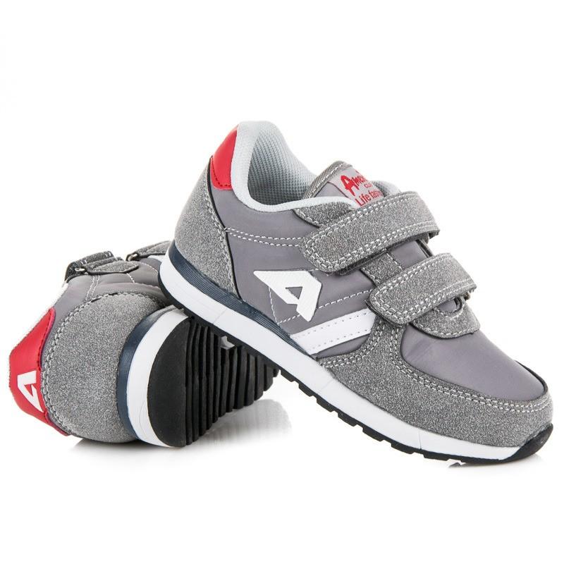 e939e7320224 Detské topánky sivej farby so zapínaním na suchý zips